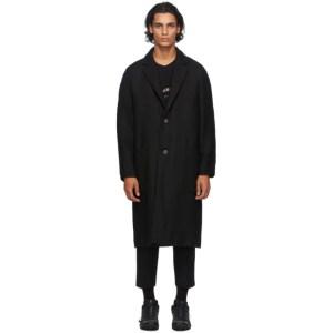 Song for the Mute Black Wool Raglan Coat