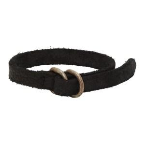 Guidi Black Leather Bracelet