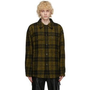 Wooyoungmi Yellow Wool Plaid Jacket