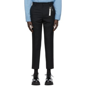 Wooyoungmi Black Attached Tag Pants