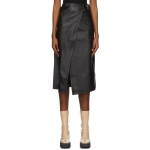 Simon Miller Black Faux-Leather Vega Mid-Length Skirt