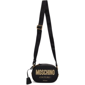Moschino Black Logo Shoulder Bag