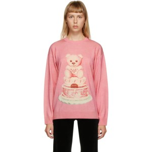 Moschino Pink Wool Teddy Bear Sweater