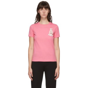 Moschino Pink Teddy Cake Icon T-Shirt