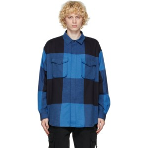 Moschino Blue Plaid Overshirt