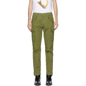 Moschino Green Plain Cargo Pants
