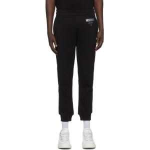 Moschino Black and Silver Couture Lounge Pants