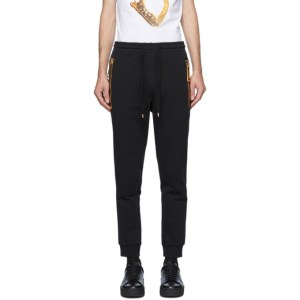 Moschino Black Large Zipper Lounge Pants
