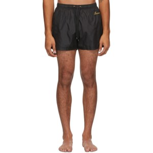 Moschino Black Logo Swim Shorts