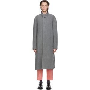 Issey Miyake Men Grey Wool Braver Coat