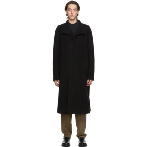Issey Miyake Men Black Beaver Coat