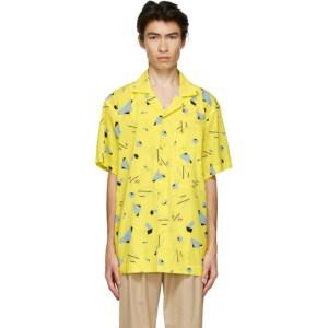 Issey Miyake Men Yellow Geometric Short Sleeve Shirt