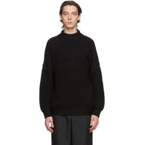 Issey Miyake Men Black Docking Low Gauge Sweater