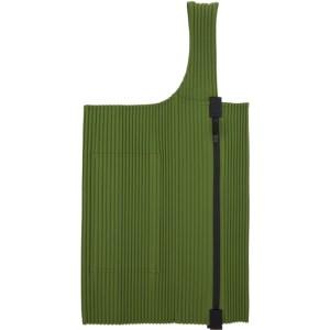 Homme Plisse Issey Miyake Green Easy Pleats Bag