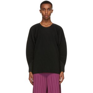 Homme Plisse Issey Miyake Black Monthly Colors September Long Sleeve T-Shirt