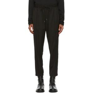 Isabel Benenato Black Coulisse Comfort Trousers