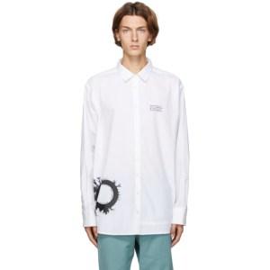 Isabel Benenato White Graphic Print Oversized Shirt