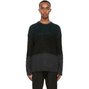 Isabel Benenato Multicolor Brushed Mohair Sweater