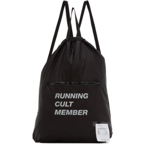 Satisfy Black The Gym Bag Backpack