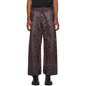 Craig Green Burgundy Embroidered Swirl Trousers
