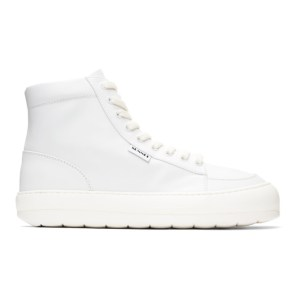Sunnei White Leather Dreamy High-Top Sneakers