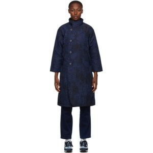 Blue Blue Japan Black and Navy Kagozome Long Coat
