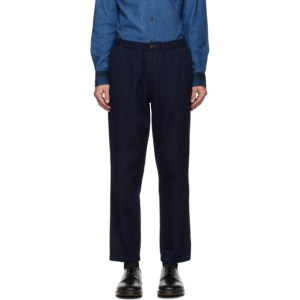 Blue Blue Japan Indigo Hand-Dyed Sashiko Trousers