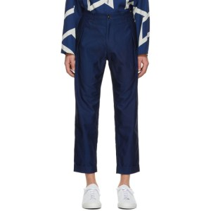 Blue Blue Japan Navy Satin Trousers