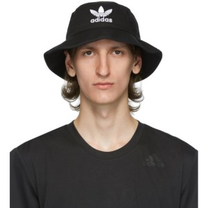 adidas Originals Black and White Trefoil Bucket Hat