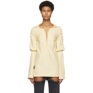 Telfar Yellow Braided Dress T-Shirt