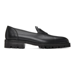 Telfar Black Logo Loafers