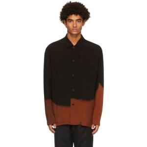 CMMN SWDN Black and Orange Ario Shirt