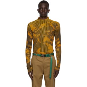 CMMN SWDN Black and Yellow Ribbed Theo Turtleneck