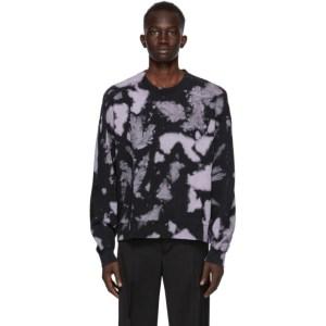 CMMN SWDN Black and Purple Bleached Trek Sweater