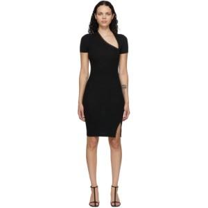 John Elliott Black Slinky Asymmetric Dress