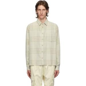 John Elliott Beige Oversized Hemi Shirt