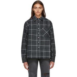 Noon Goons Black Baseline Cord Plaid Shirt