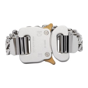 1017 ALYX 9SM Silver and Gold Cubix Chain Bracelet