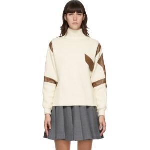 Maryam Nassir Zadeh Off-White and Brown Cortina Sweater