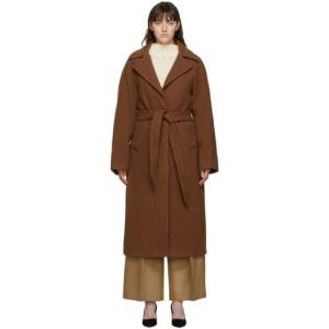 Victoria Victoria Beckham Brown Wool Oversized Teddy Coat