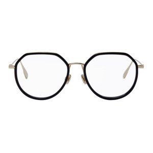 Dior Gold and Black Stellaire09 Round Glasses