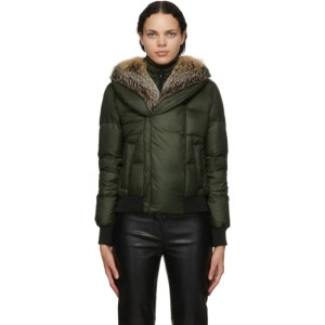 Mr and Mrs Italy Green Down Puffer Jacket