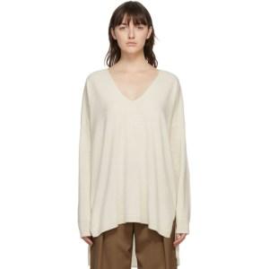 Julia Jentzsch Off-White Cashmere Yara Oversized Sweater