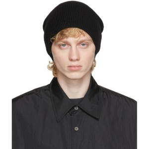Our Legacy Black Wool Knitted Beanie