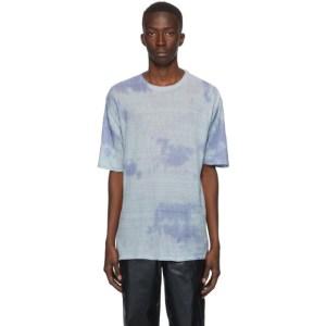 Our Legacy Blue Sheer Linen Box T-Shirt
