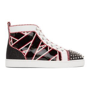Christian Louboutin Multicolor Printed Lou Spikes Sneakers