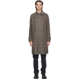 Herno Brown Recycled Wool Houndstooth Over Coat