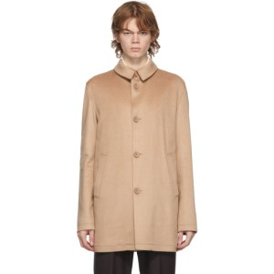 Herno Tan Cashmere Topper Jacket