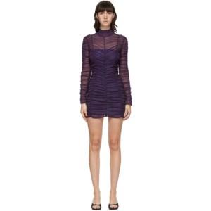 Eckhaus Latta Purple Scrunch Short Dress