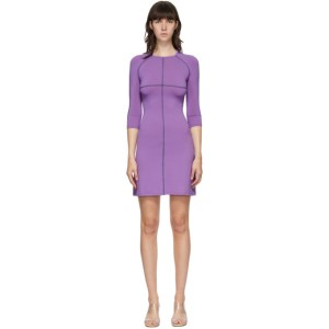 Eckhaus Latta Purple Sport Short Dress